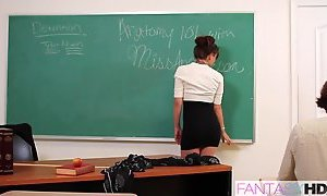 Horny Teacher Seduces Student w Capri Anderson