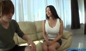 Busty Reiko Kobayakawa wants cock in her tight vag