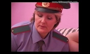 BBW mature policewoman forcing
