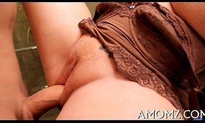Sexy mama gets pleasure of ramrod