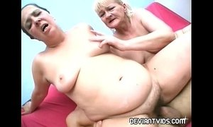 Ugly amateurs rammed in threesome porn