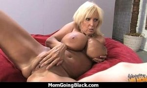 Big tits white cougar fucks a lucky black guy 4
