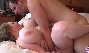 Mature BBW gets a Retirement Fuck