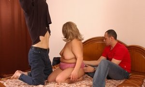 Fat housewife lets the guys to fuck her anywhere     Pics