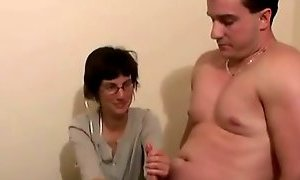 Woman Jerks His Cock for Distance-daddi