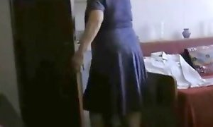 Old granny fucked in hotel room