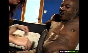BrokenTeens - Tight Teen Knows How to Work a BBC