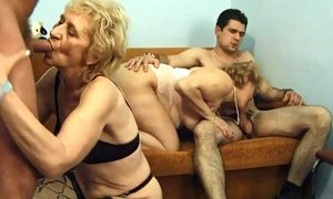 Blonde skinny hairy Hungarian granny anal