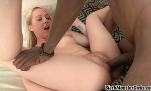 Cute Blonde Ashley Stone Black Cock Interracial