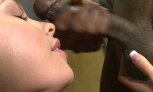 Big black cock for a dirty blonde girl